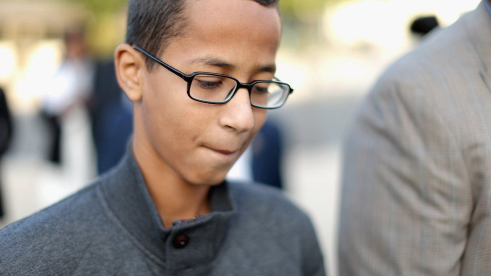 Ahmed Mohamed at the US Capitol on 20 October 2015