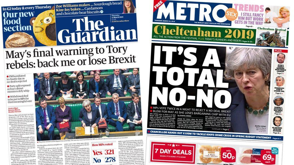 Guardian and Metro