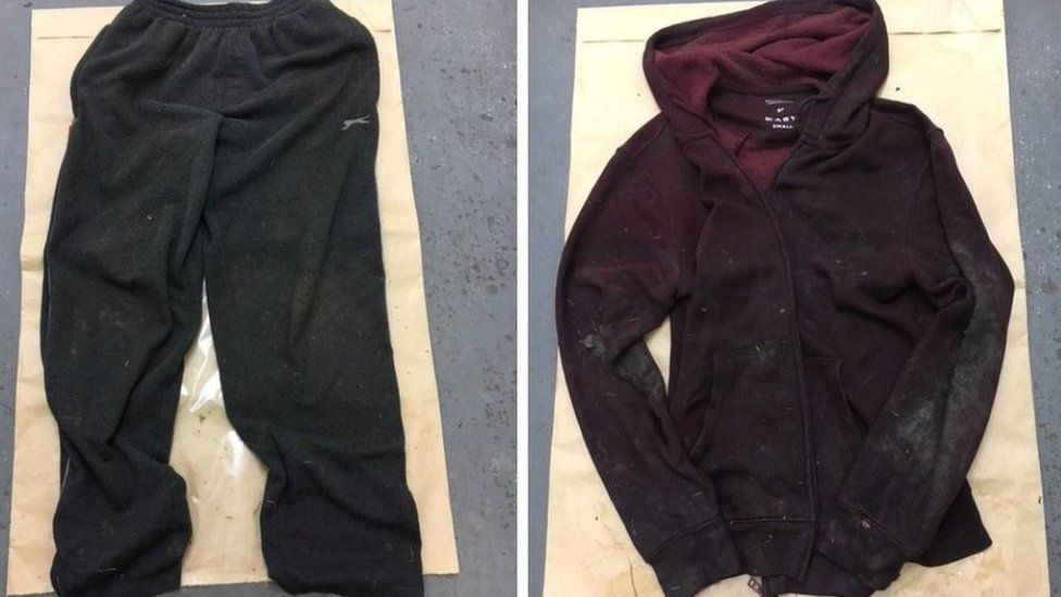 Clothes of man found in a ditch