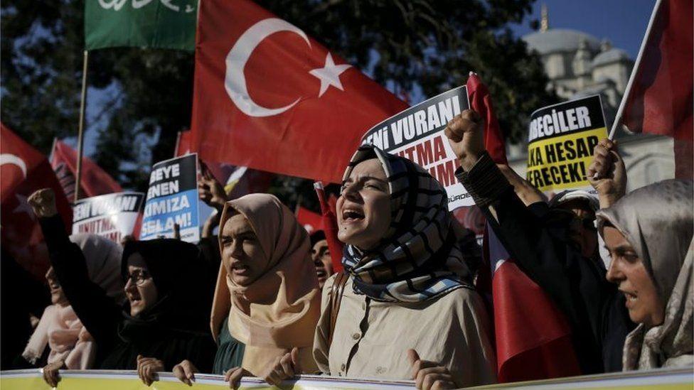 Pro-Erdogan rally in Istanbul (16/07/16)