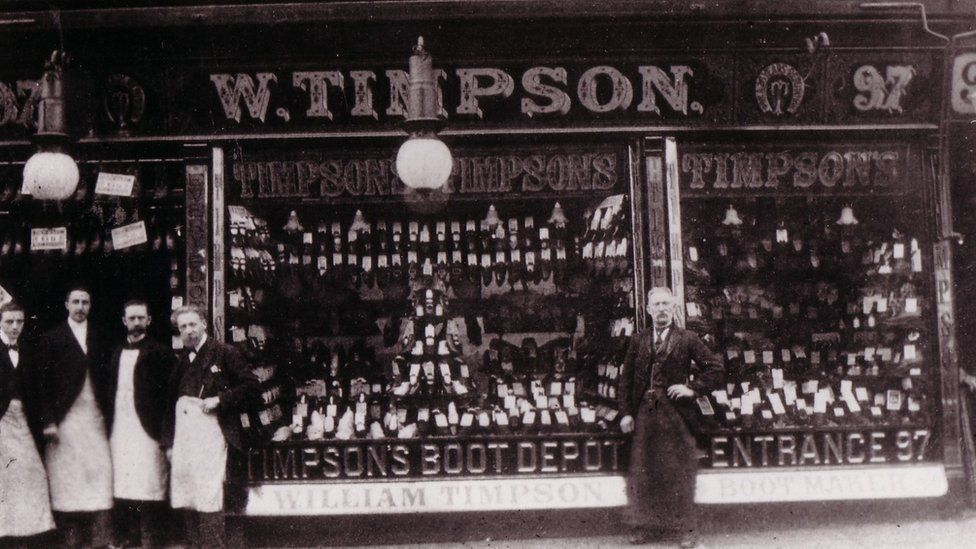 The family's first shop in Oldham