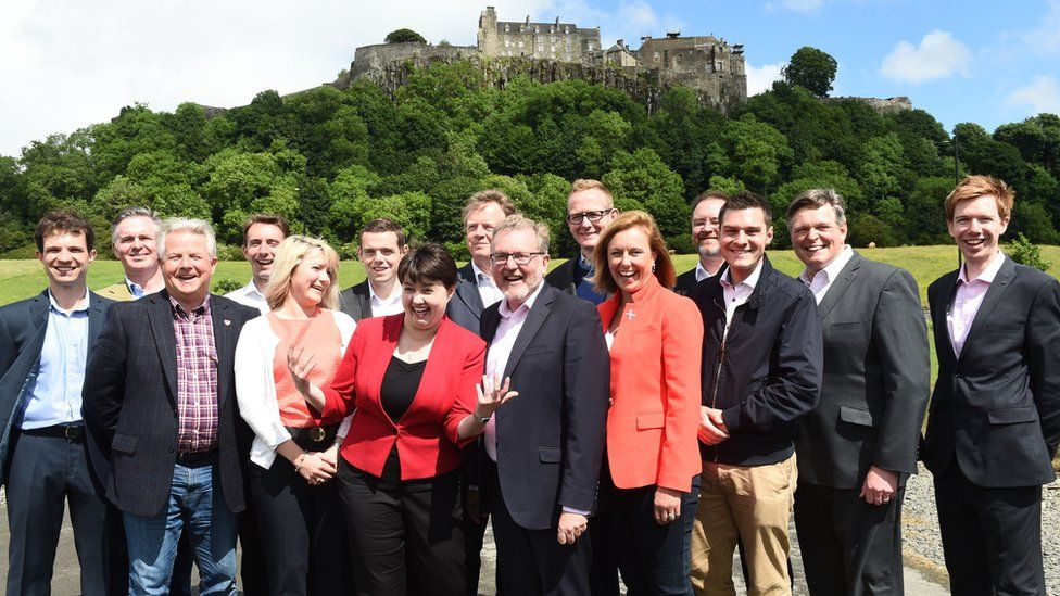 Ruth Davidson and her new MPs