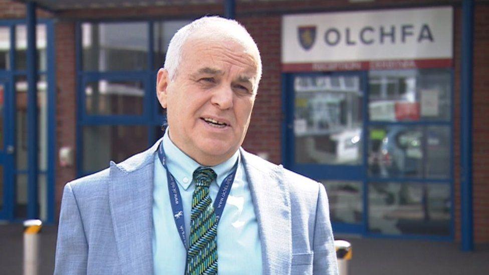 Hugh Davies, head teacher at Olchfa Comprehensive School in Swansea