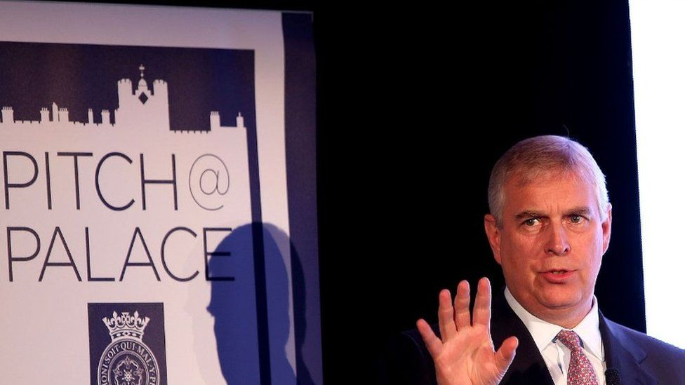 Prince Andrew at a Pitch@Palace event