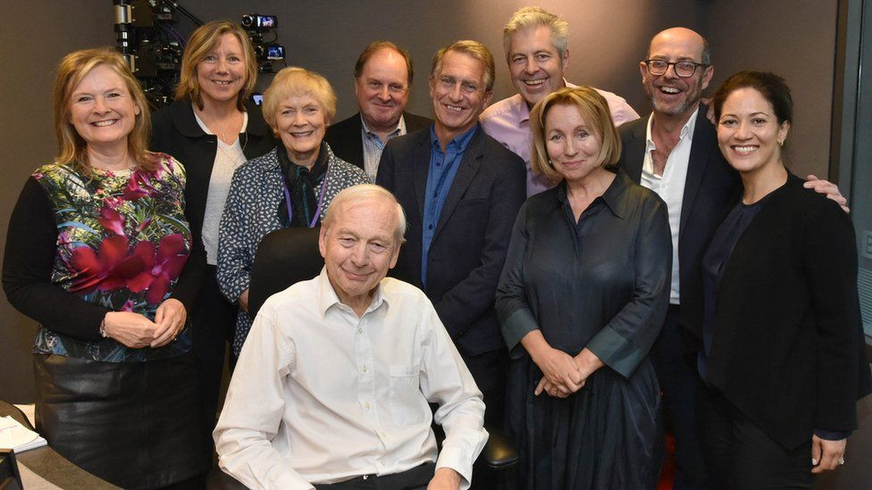John Humphrys with some former and current Today programme presenters
