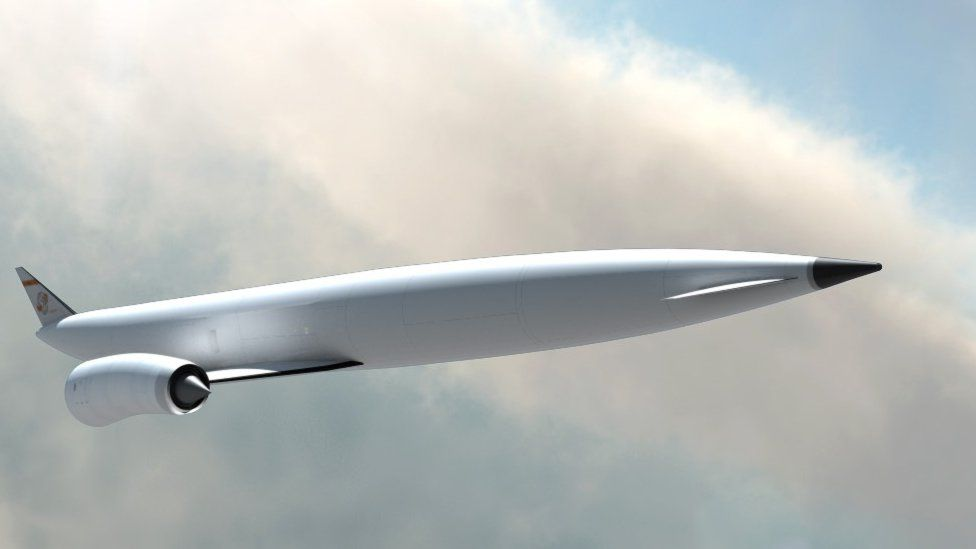Reaction Engines' design concept for SKYLON-a-single stage to orbit reusable launch vehicle.