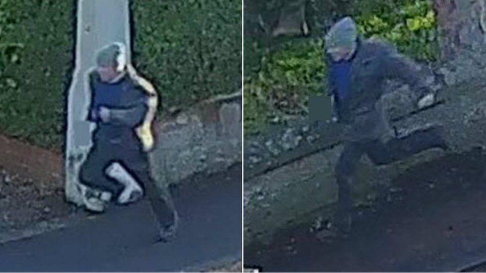 CCTV images of man running