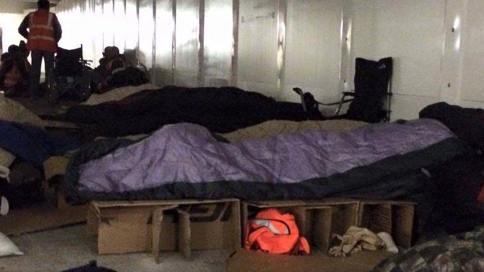 People sleeping rough under the old library in Birmingham