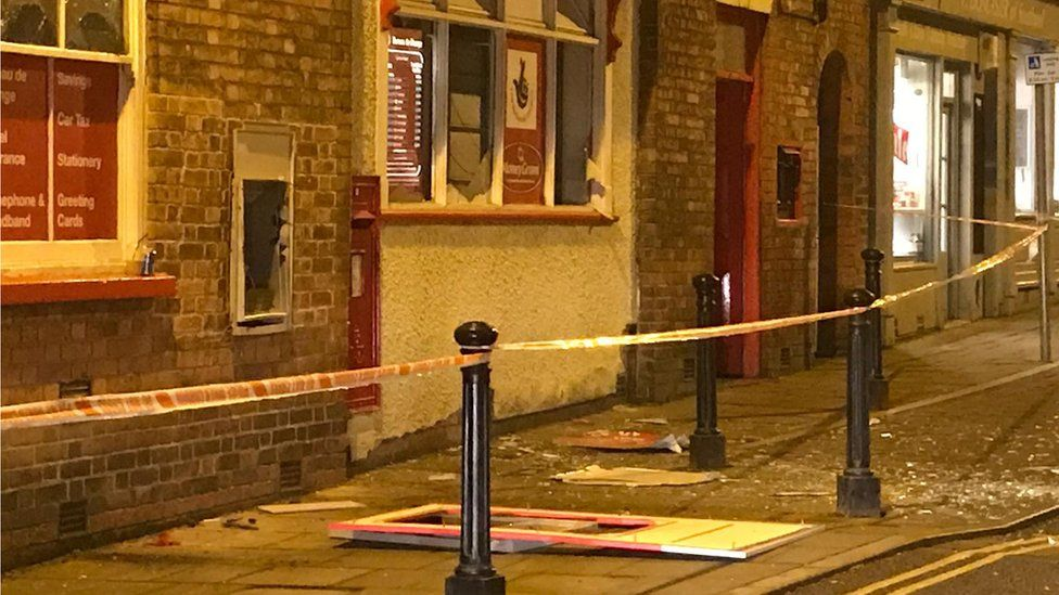 Post office cordoned off