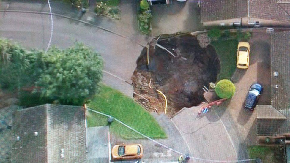 Fontmell Close sinkhole