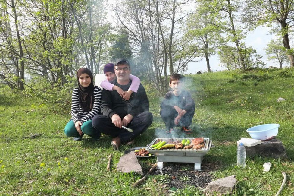The Israpilov family, before Ruslan Israpilov's death