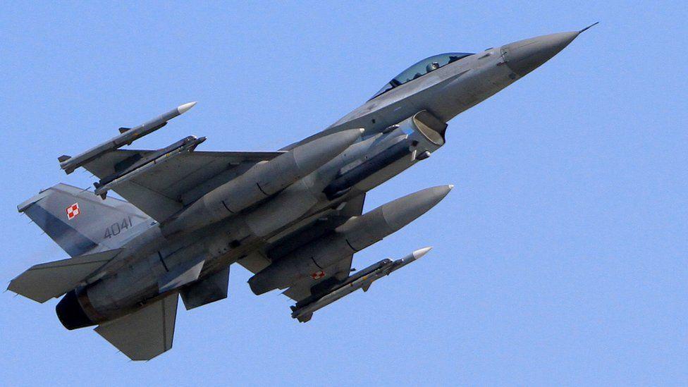 Polish F-16 over Lithuania