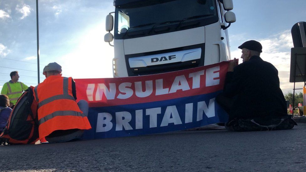 M25 protesters