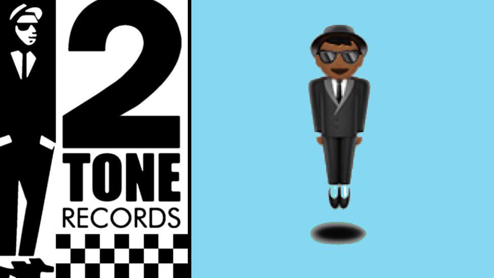 2 Tones logo and levitating emoji