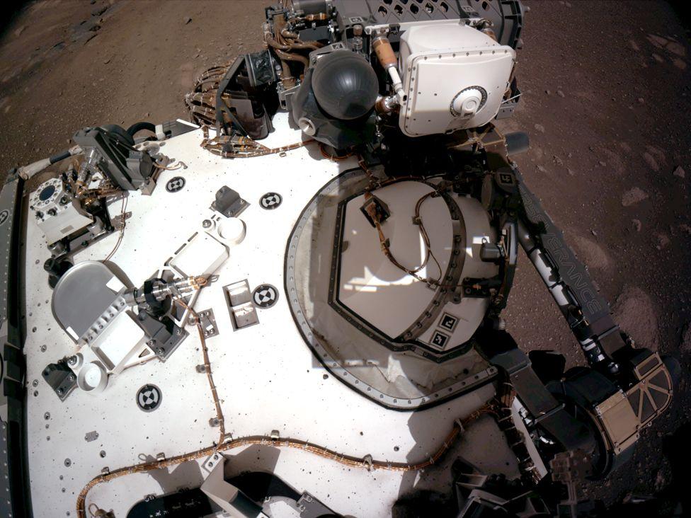 Nasa's Perseverance Mars rover deck (20 February 2021)