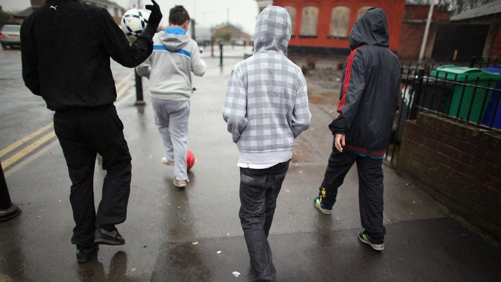Youths on street