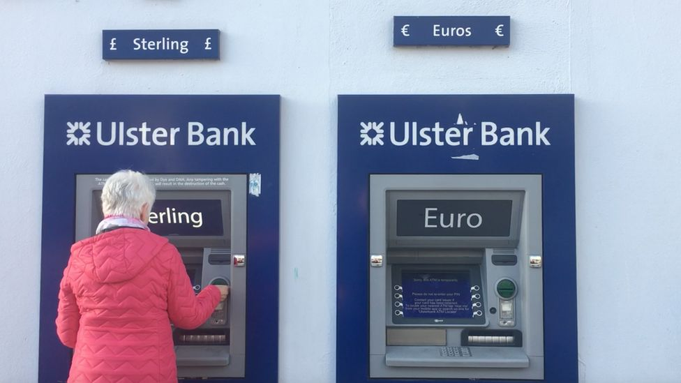 Euro and sterling cash machines