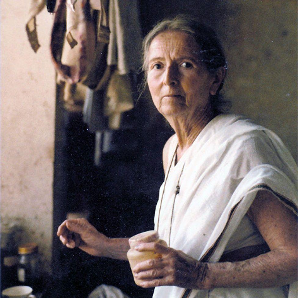 Savitri Devi in Delhi, in 1980