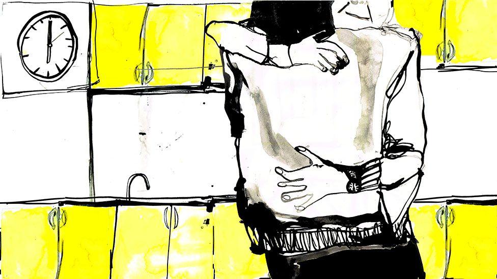 kitchen hug illustration
