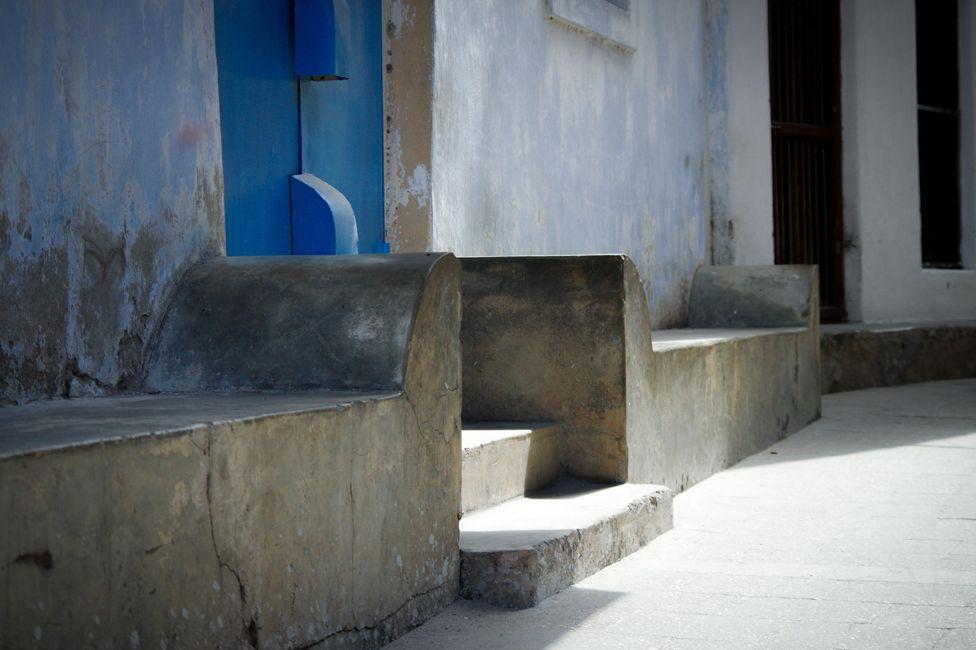 Seats outside house in Stone Bridge, Zanzibar