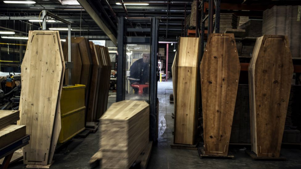 A coffin factory in France