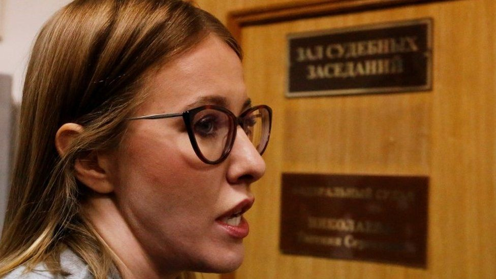 Russian TV personality Ksenia Sobchak (file picture)