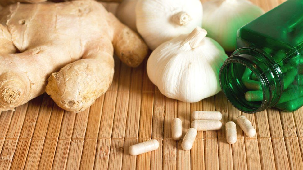 Ginger and garlic pills