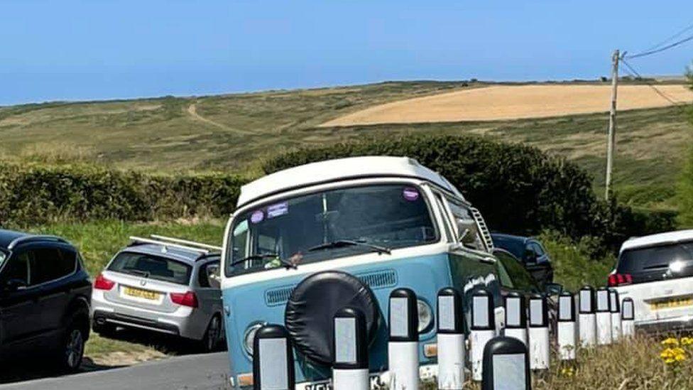 Parking at Porthcothan