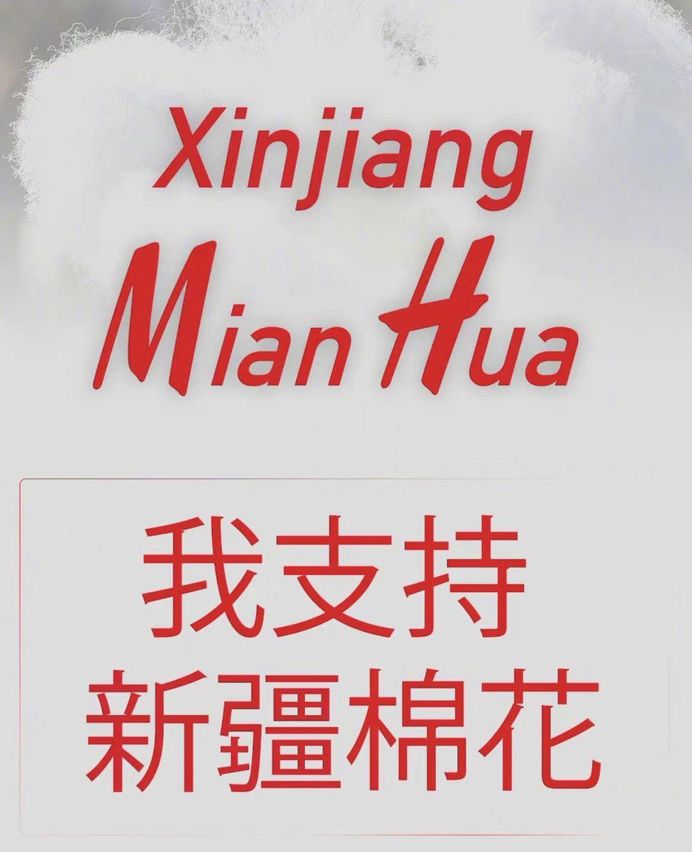 Screenshot of People's Daily Xinjiang cotton campaign
