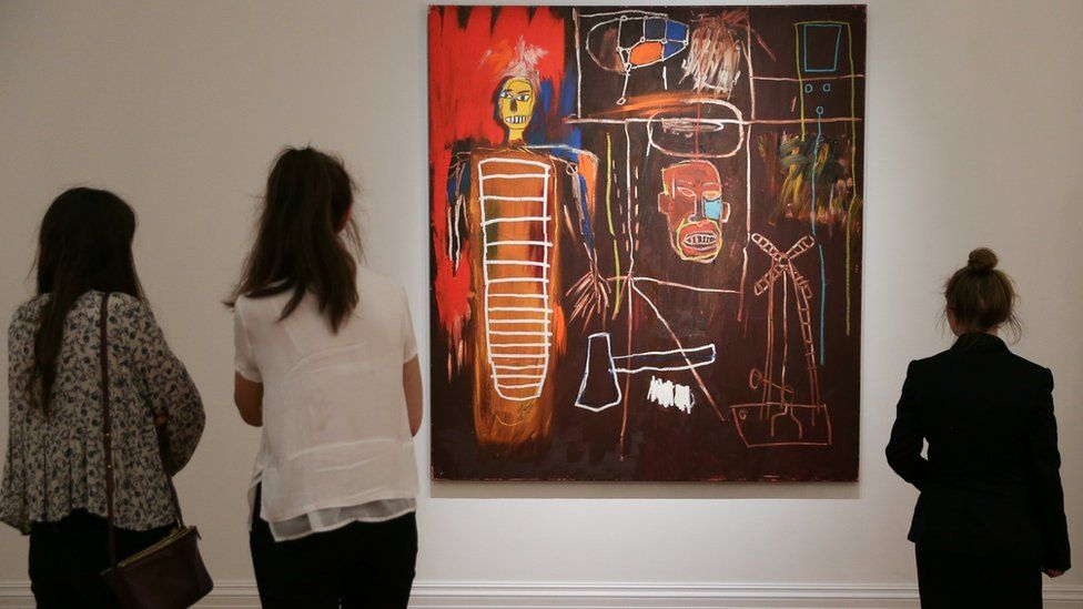 Air Power by US artist Jean-Michel Basquiat executed in 1984 with an estimated price of 2.5-3.5 million