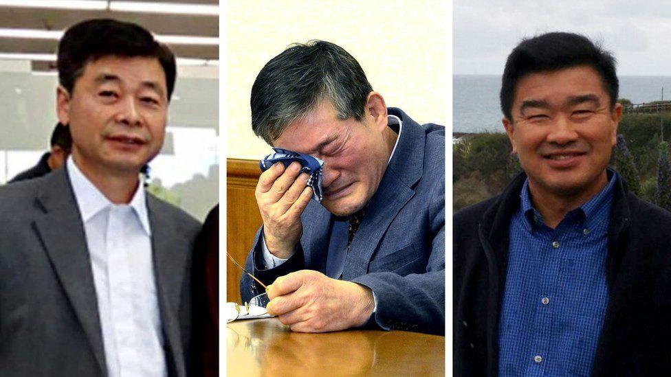 Left to right: Kim Hak-song, Kim Dong-chul, Tony Kim
