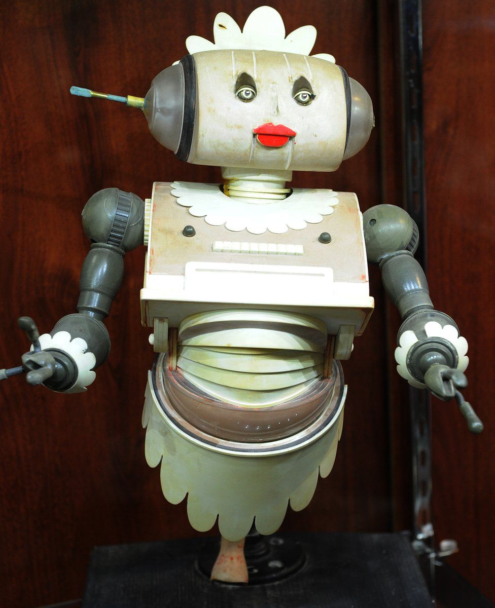 """A Jetsons """"Rosie the Robot"""" maquette which was auctioned in Beverley Hills in 2010"""