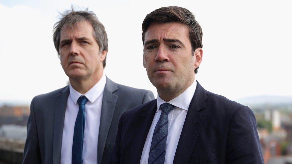 Steve Rotheram (left) and Andy Burnham