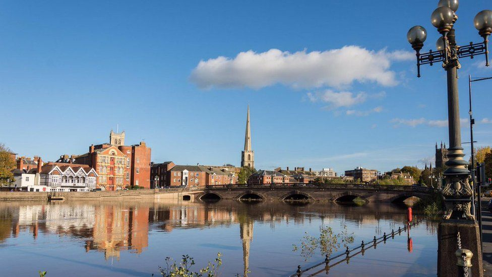 The river Severn rising in Worcester