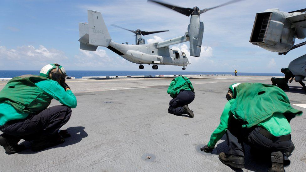 The US military is evacuating personnel from the US Virgin Islands