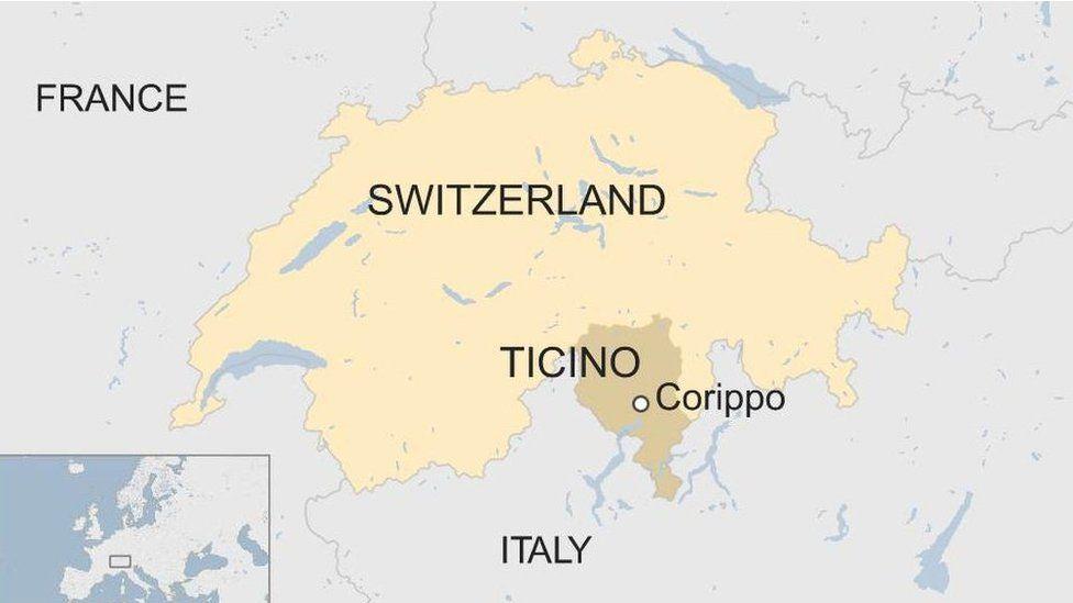 Switzerland/Corippo map