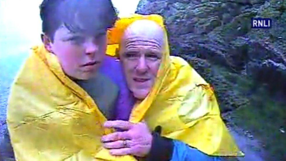 Paul Rowlands and son, Joe