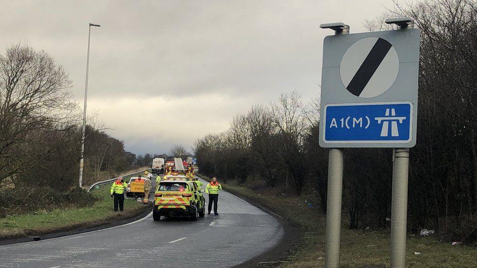 Emergency services near the scene
