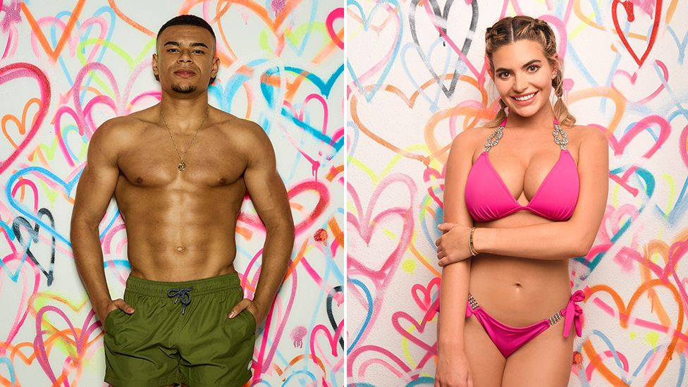 Love Island contestants Wes and Megan