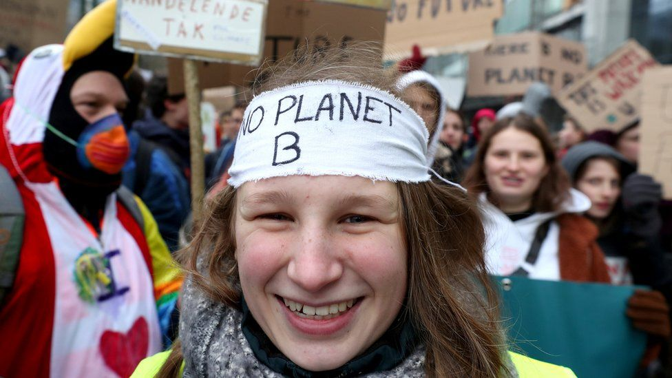 Students demand urgent measures to combat climate change during a demonstration in central Brussels, Belgium January 31, 2019