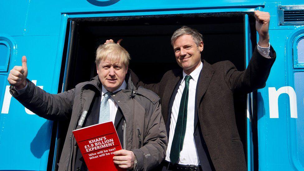 Boris Johnson (left) and Zac Goldsmith