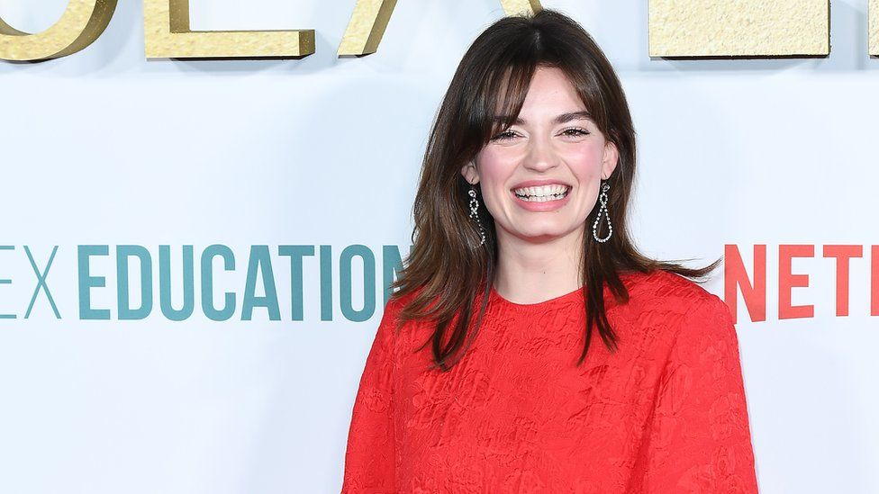 Emma Mackey on the red carpet