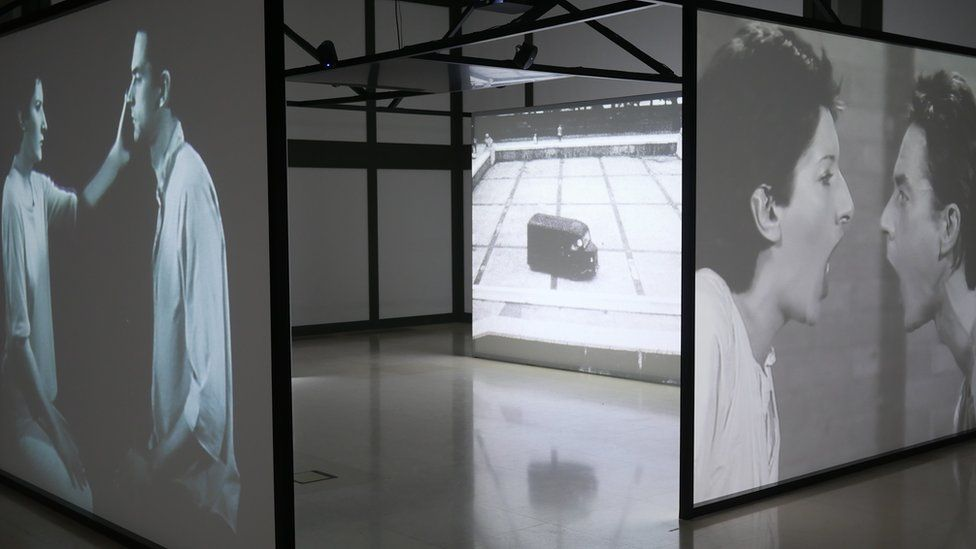A display from Marina Abramovic's The Cleaner