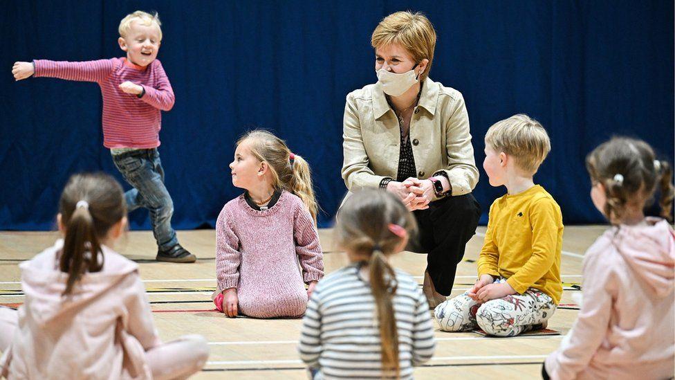 Nicola Sturgeon campaigning in Insch
