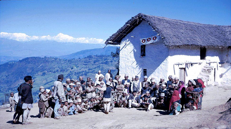 Villagers in the eastern district of Dhankuta
