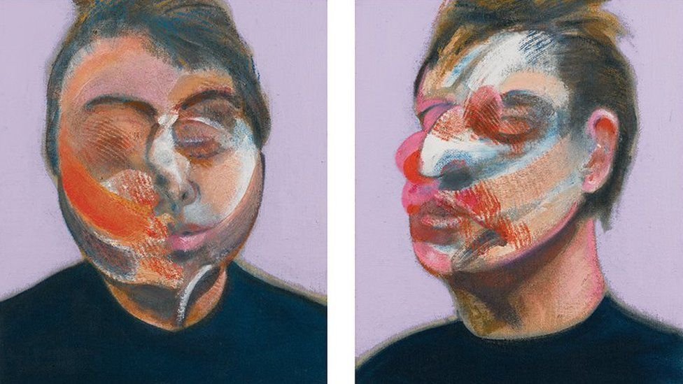 Francis Bacon, Two Studies for a Self-Portrait