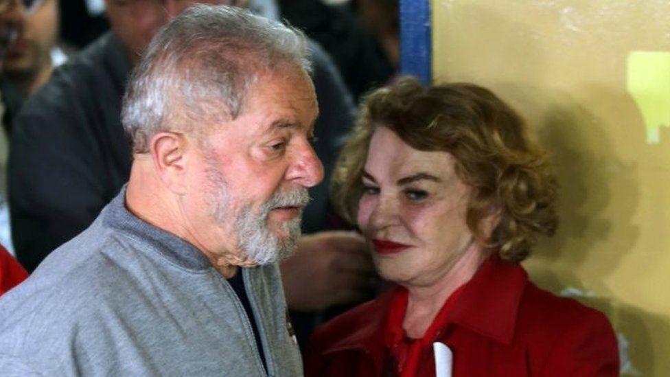 Luiz Inacio Lula da Silva and his wife Marisa Leticia. Photo: October 2016