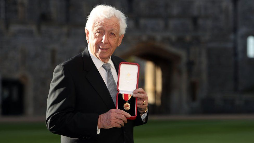 Sir Frank Lowy received a knighthood from the Queen