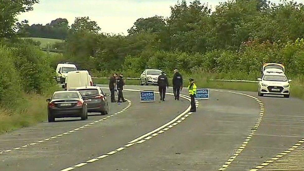 Gardaí at scene of crash