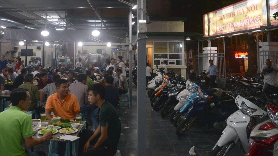 Hanoi beer hall, Vietnam, 2016